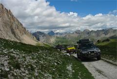 Geländewagen, Offroad Tour, Alpenüberquerung Reiseverlauf
